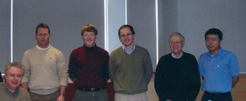 From left to right: Brian Aneskievich, Charles Giardina, Joerg Graf, Lawrence Hightower