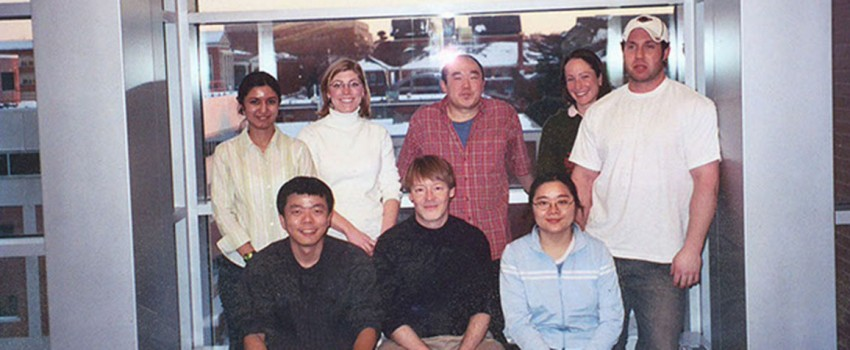 Some of the past members of the Giardina lab